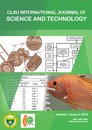 View Vol. 1 No. 2 (2016): CLSU International Journal of Science and Technology